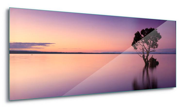 Glass Art  Sunset Purples