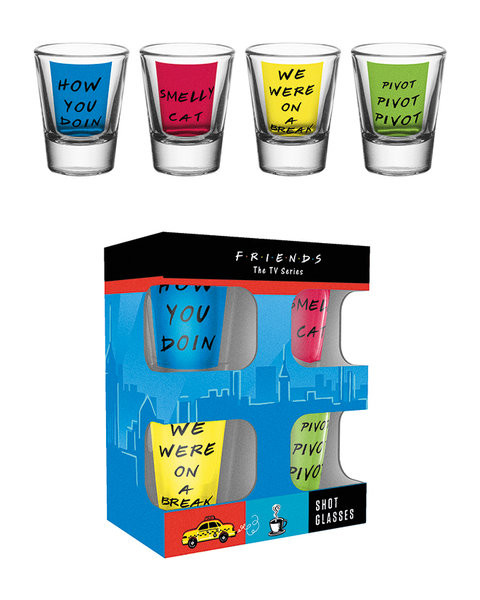 Friends TV - Quotes Glass