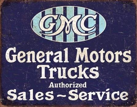 GMC Trucks - Authorized Plaque métal décorée