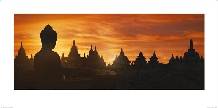 Golden Silhouette - Indonesia Reproduction d'art
