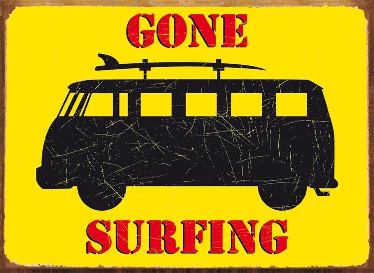 GONE SURFING Plaque métal décorée