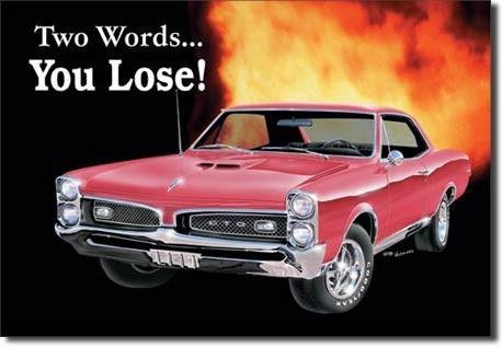 GTO - you lose Plaque métal décorée