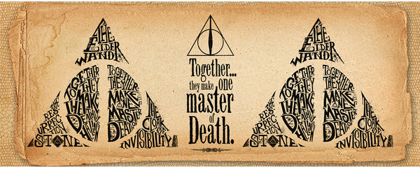 Cup Harry Potter - Deathly Hallows Words