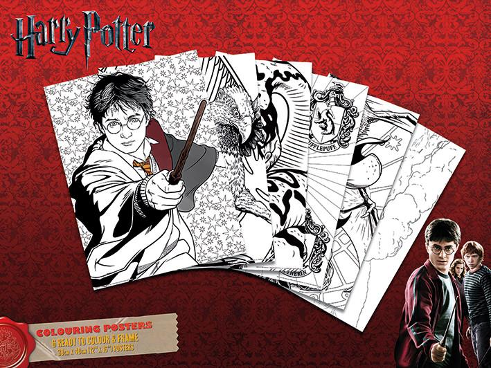Coloring poster Harry Potter - Hogwarts