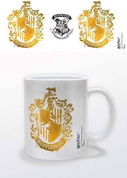 Mug Harry Potter - Hufflepuff Stencil Crest
