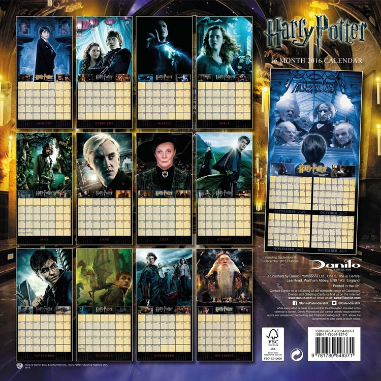 Calendrier Harry Potter 2022 Harry Potter   Wall Calendars 2022 | Large selection