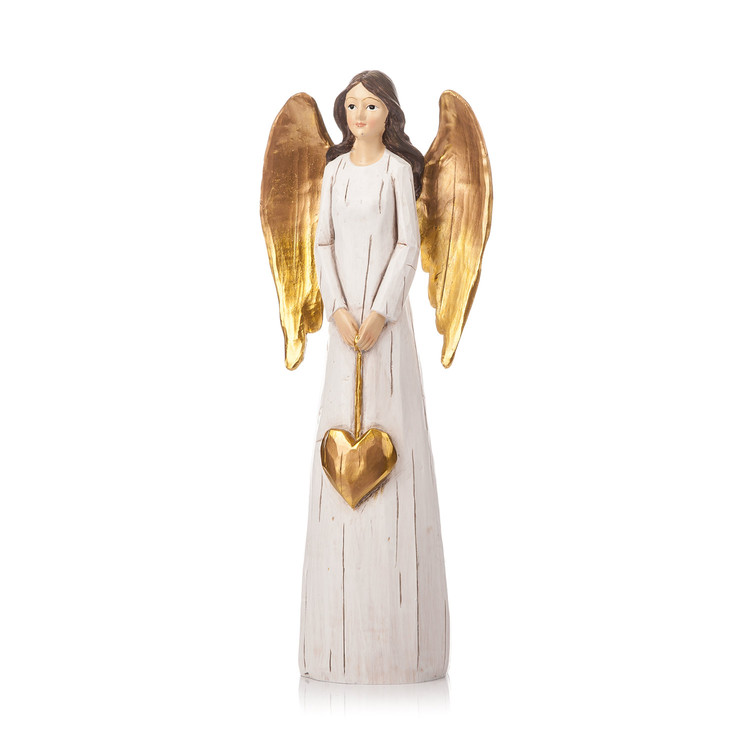 Angel Gold with Long Wings, 27 cm Home Decor