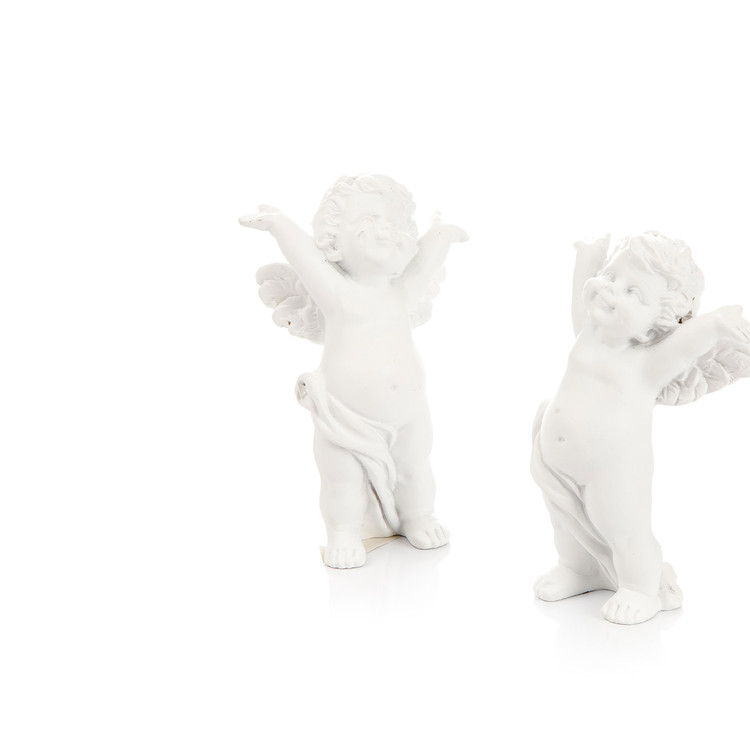 Angel with Hands Behind Head, 8 cm, set of 2 pcs Home Decor