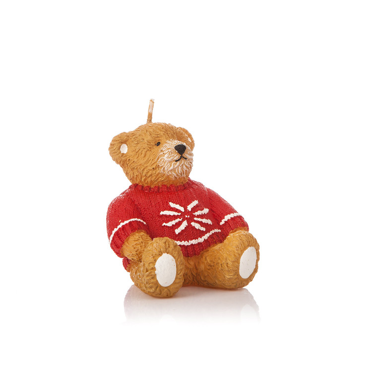Candle Bear in Sweater, 8 cm Home Decor