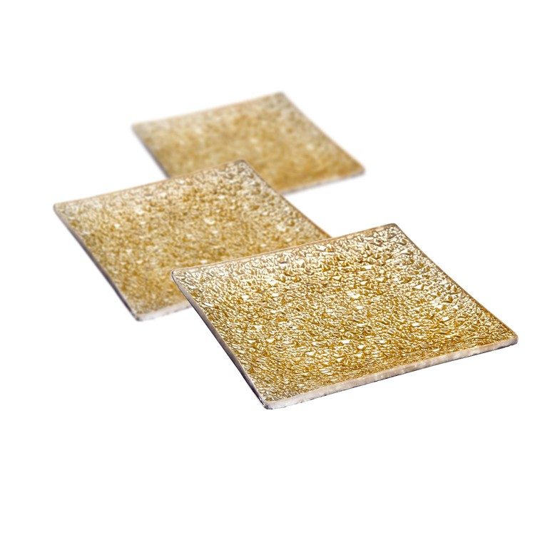 Candle Coaster Gold 12 cm, set of 3 pcs Home Decor