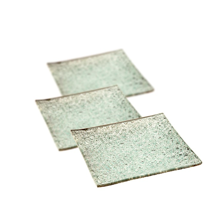 Candle Coaster Silver 12 cm, set of 3 pcs Home Decor