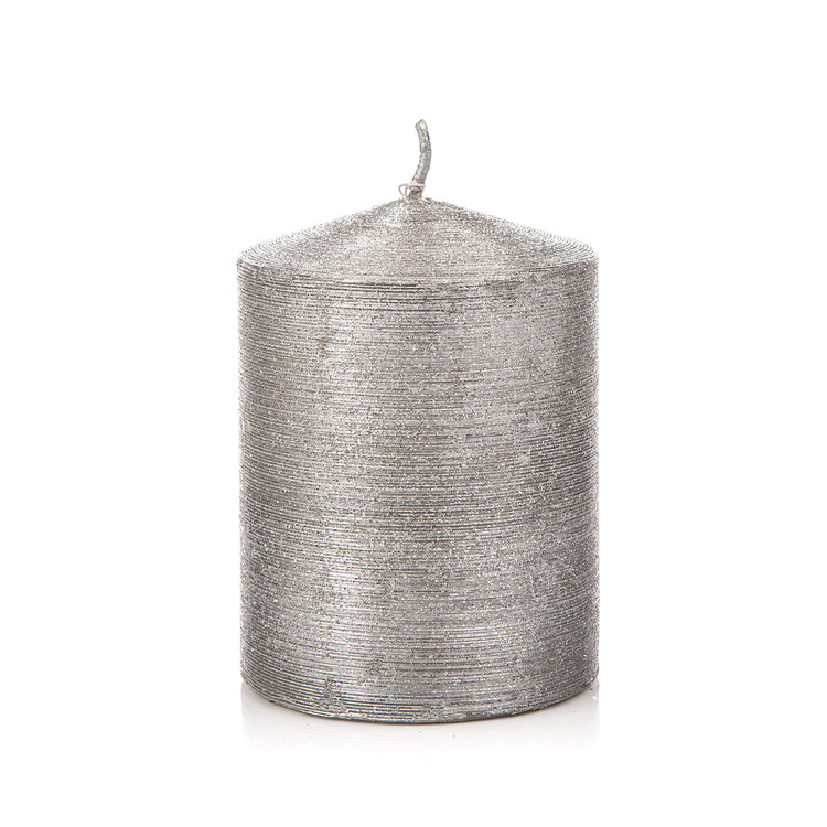 Candle Cylinder 7 * 12,5 cm 406 g SILVER Home Decor