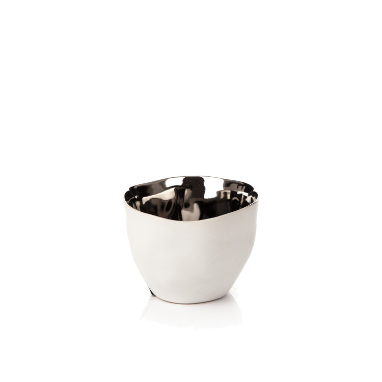 Candle Holder for Tealight Candles, 10 cm Chrome Home Decor