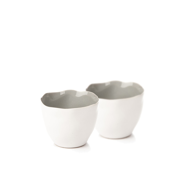Candle Holder for Tealight Candles, 10 cm Matte White, set of 2 pcs Home Decor
