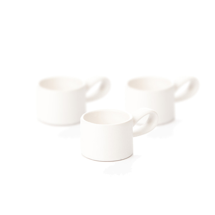 Candle Holder for Tealight Candles, 5 cm Matte White, set of 3 pcs Home Decor