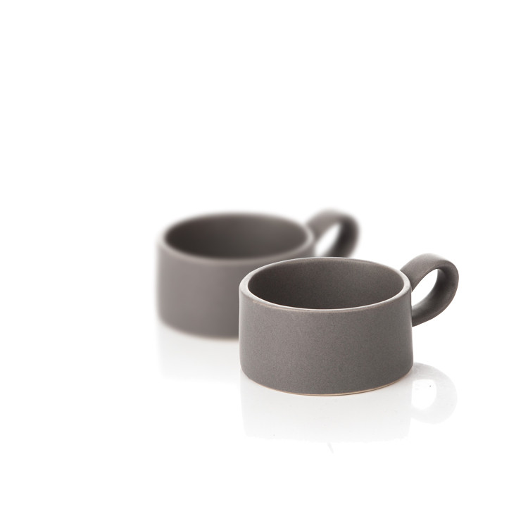 Candle Holder for Tealight Candles, 7,5 cm Dark Gray, set of 2 pcs Home Decor