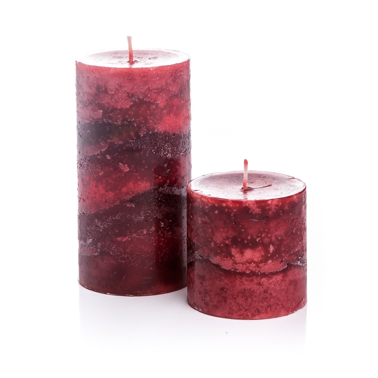 Candle with Lid-Cinnamon, Red, 14cm Home Decor