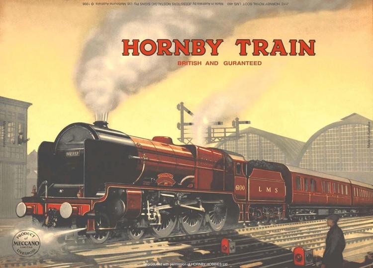 HORNBY ROYAL SCOT Plaque métal décorée