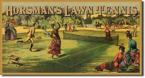 HORSMAN'S LAWN TENNIS Plaque métal décorée