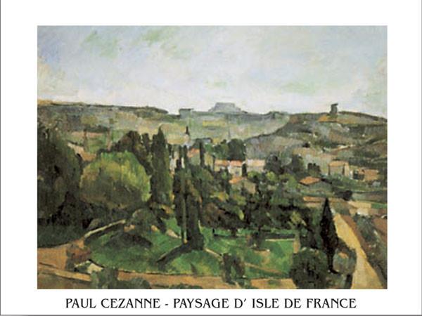 Ile De France Landscape Reproduction d'art