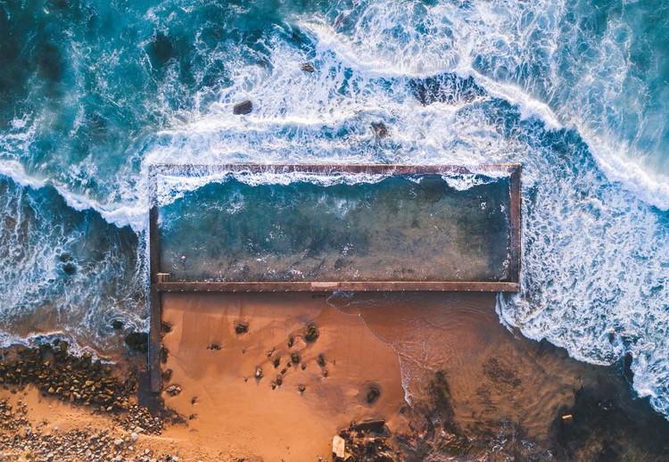 Glass Art  Beach Pool