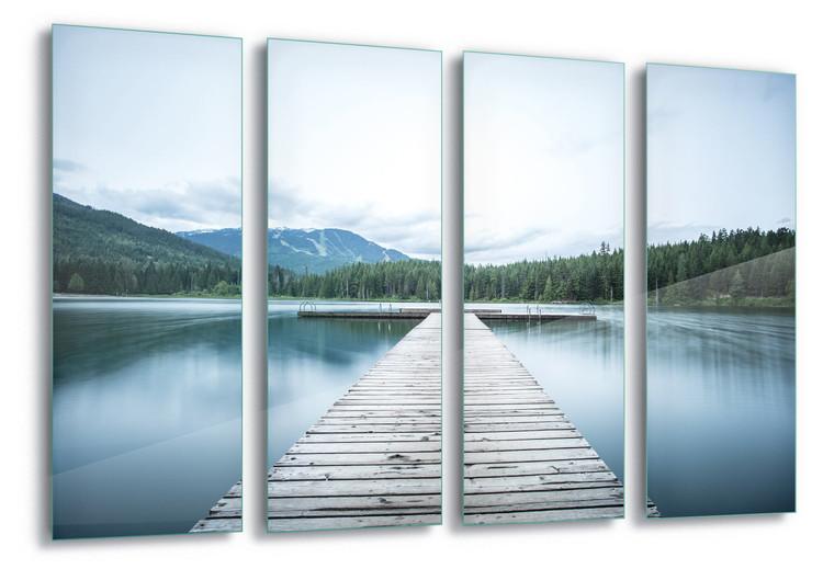 Glass Art  Lake Pier