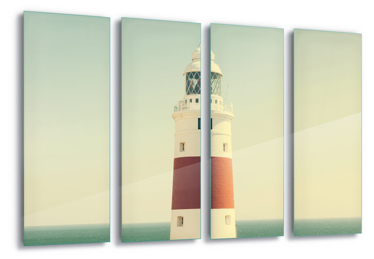 Glass Art Lighthouse By The Sea