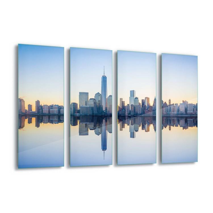 Glass Art Manhattan Mirror
