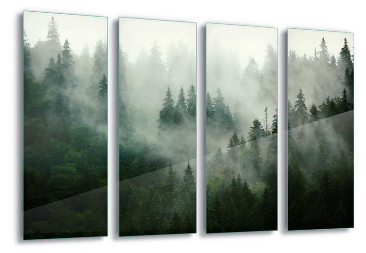 Glass Art Misty Forest