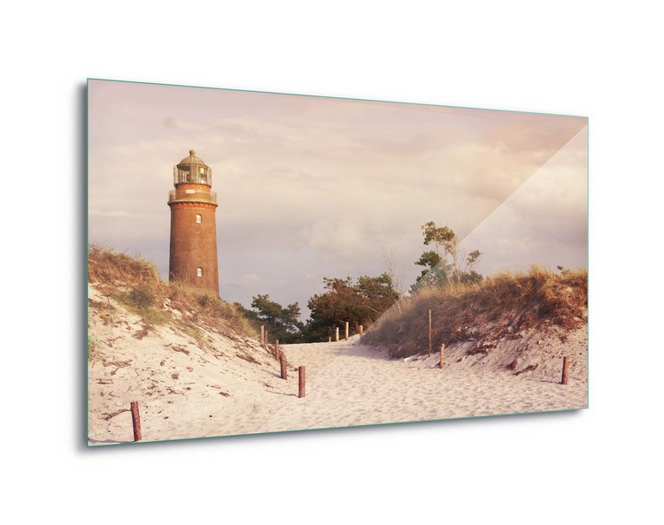 Glass Art  Pastel Lighthouse