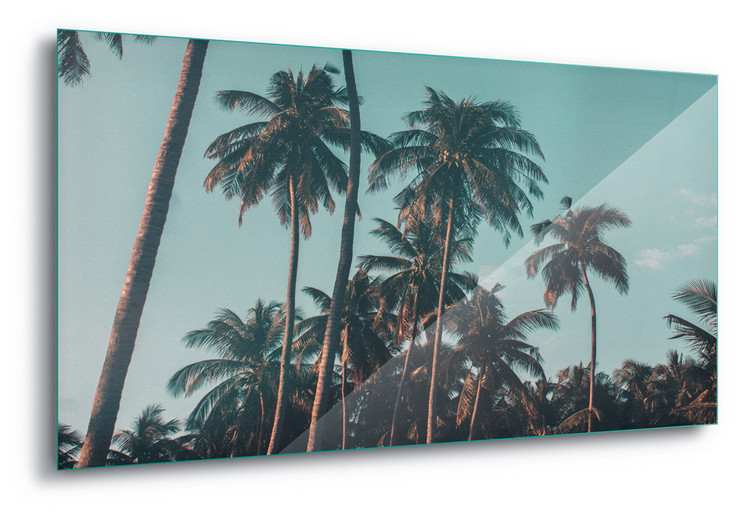 Glass Art Retro Palms