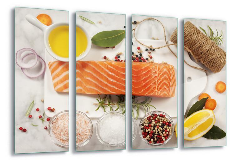 Glass Art Salmon Parcel