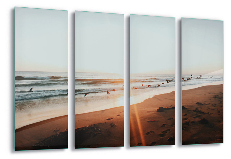 Glass Art Sunset Flight