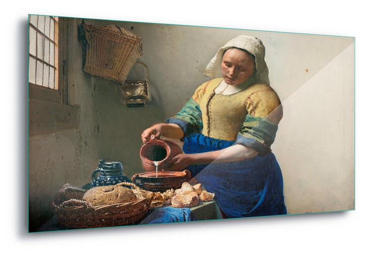 Glass Art  The Milkmaid, Vermeer