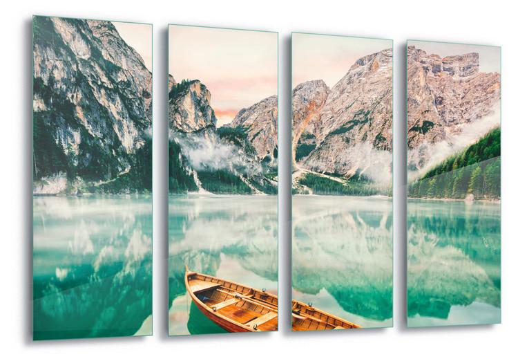 Glass Art  Turquoise Lake