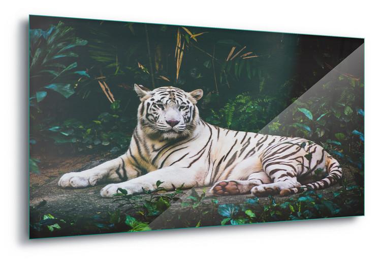 Glass Art  White Tiger