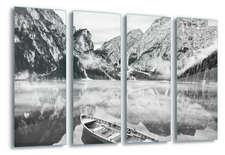 Glass Art Winter Row