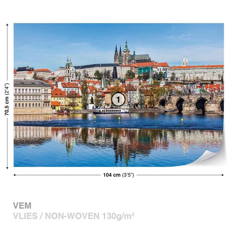 Valokuvatapetti Ciudad Praga Puente rio Catedral