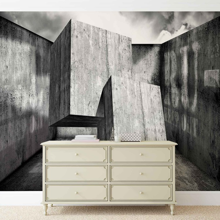 Wallpaper Mural Abstract Modern Concrete