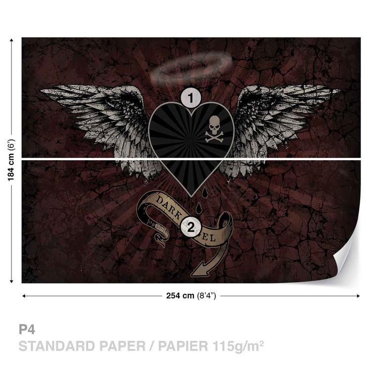 Wallpaper Mural Alchemy Heart Dark Angel Tattoo