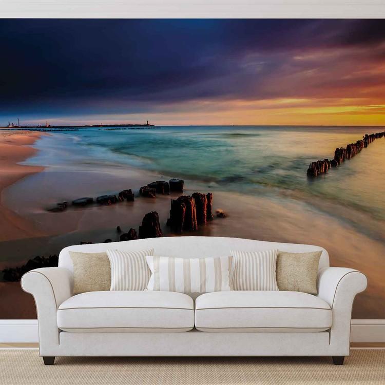 Wallpaper Mural Beach Scene