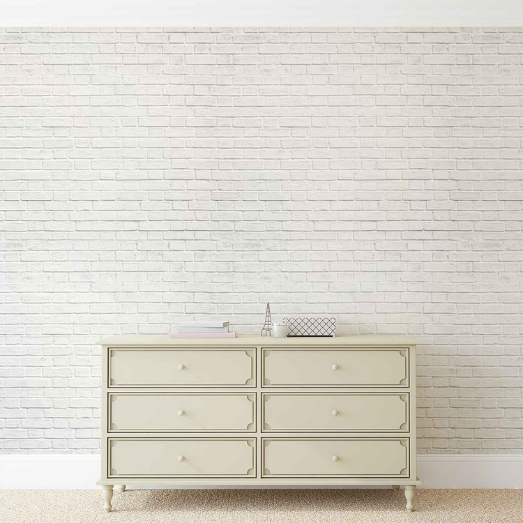Wallpaper Mural Brick Wall White