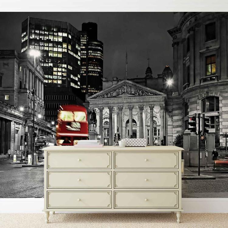 Wallpaper Mural City London Bus Red