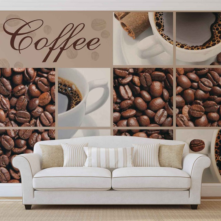 Wallpaper Mural Coffee Cafe