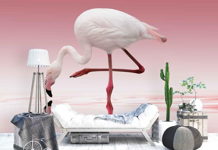 Wallpaper Mural Flamingo