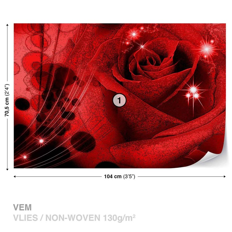 Wallpaper Mural Flower Rose Abstract