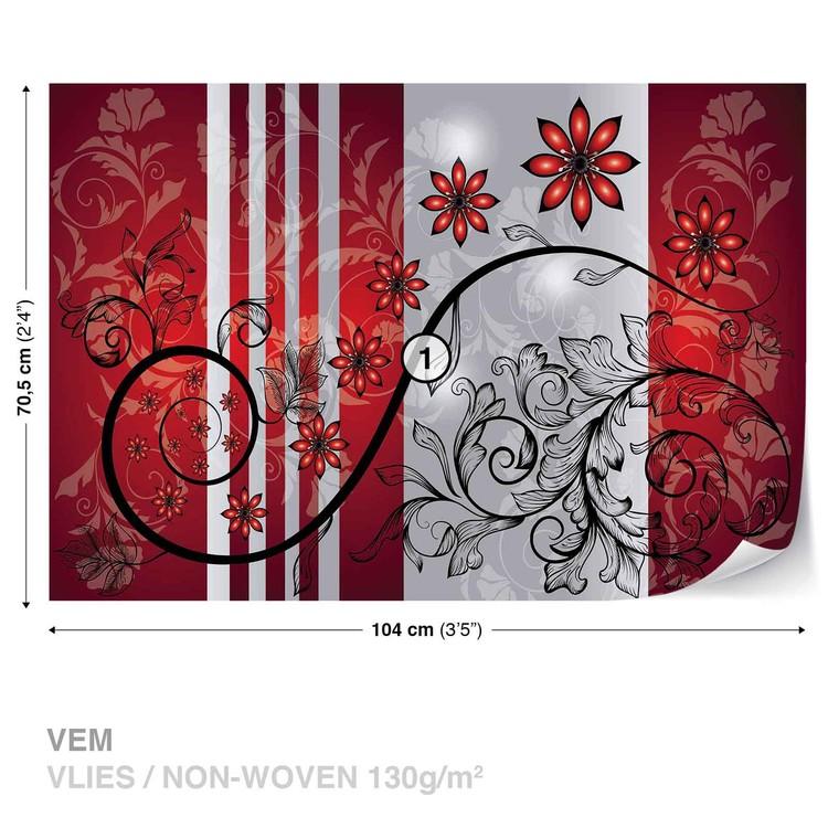 Wallpaper Mural Flowers Floral Pattern