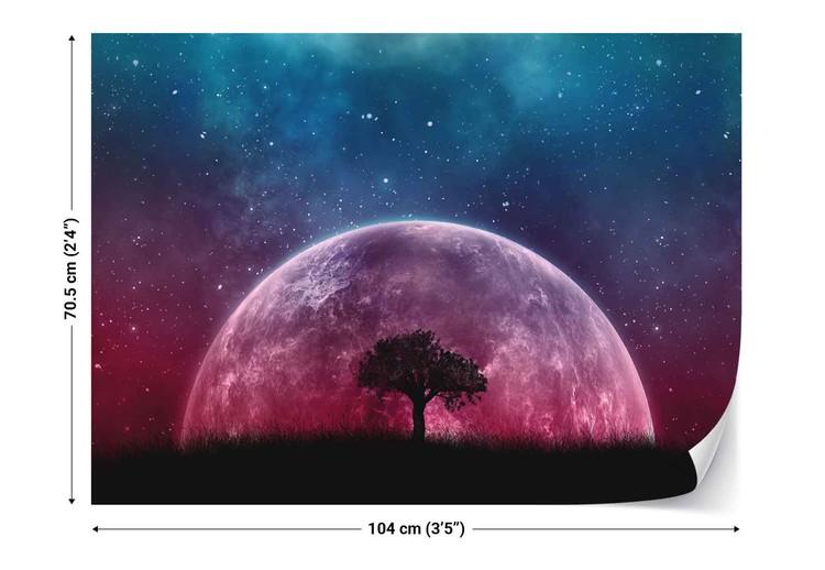 Wallpaper Mural Galaxy Tree
