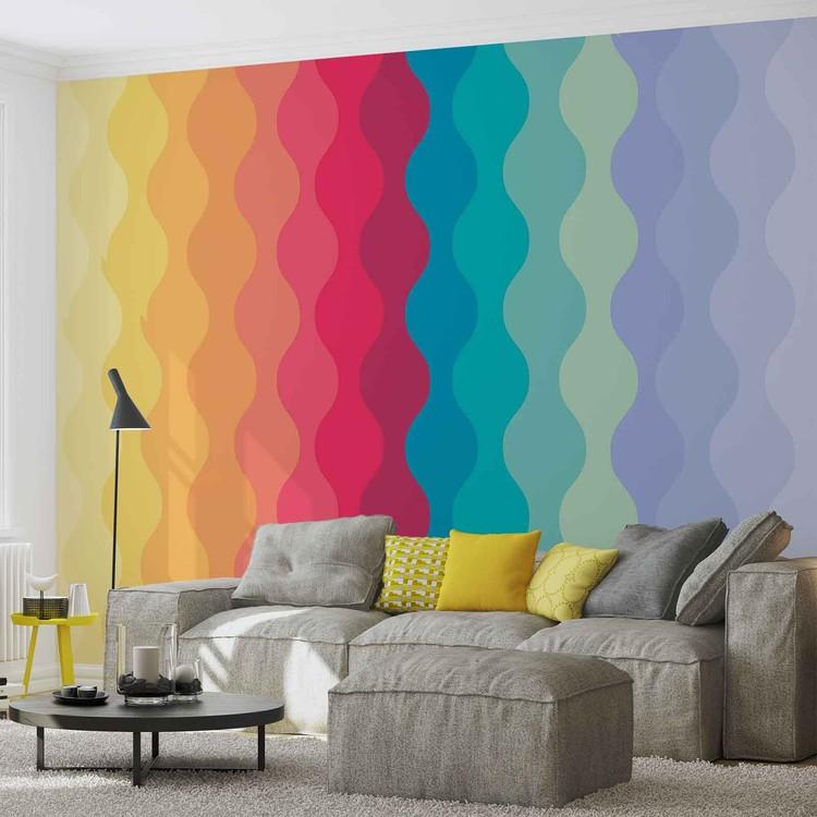 Wallpaper Mural Modern Art Rainbow