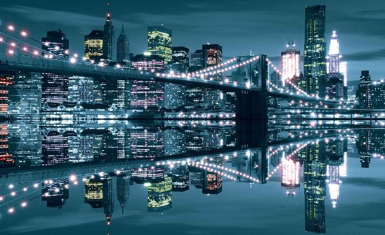 Wallpaper Mural New York City Skyline Brooklyn Bridge